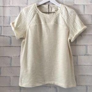 Lou & Grey | textured short sleeve sweatshirt NWT